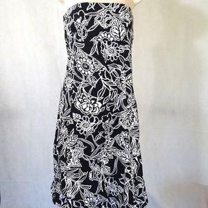 Zara Basic Strapless Dress Women Size L Black